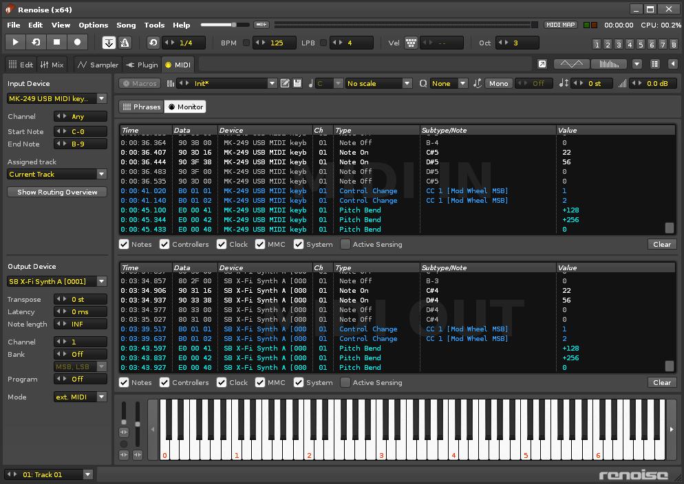 MIDI - Renoise User Manual